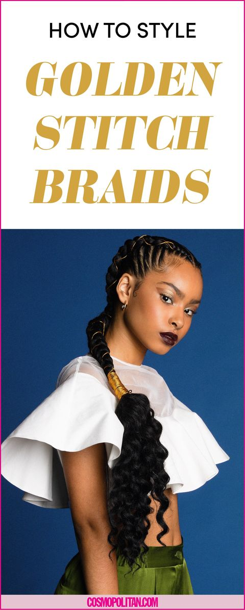 Sexy Golden Stitch Braids How To Tutorial For Braided