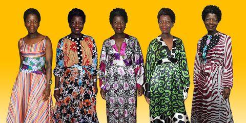 Clothing, Dress, Fashion design, Fashion, Fashion model, Neck, Day dress, Formal wear,