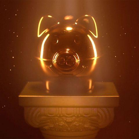 Gold percy pig