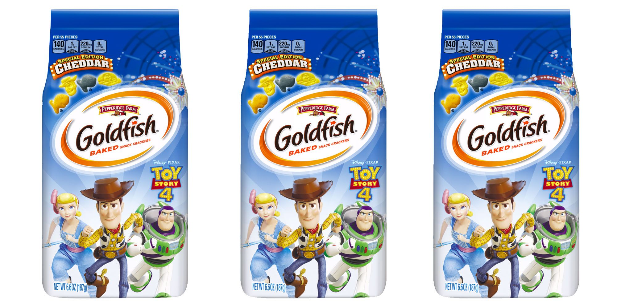 Toy Story Goldfish Are Launching In May And They're Woody, Buzz Lightyear, And Little Bo Peep-Themed