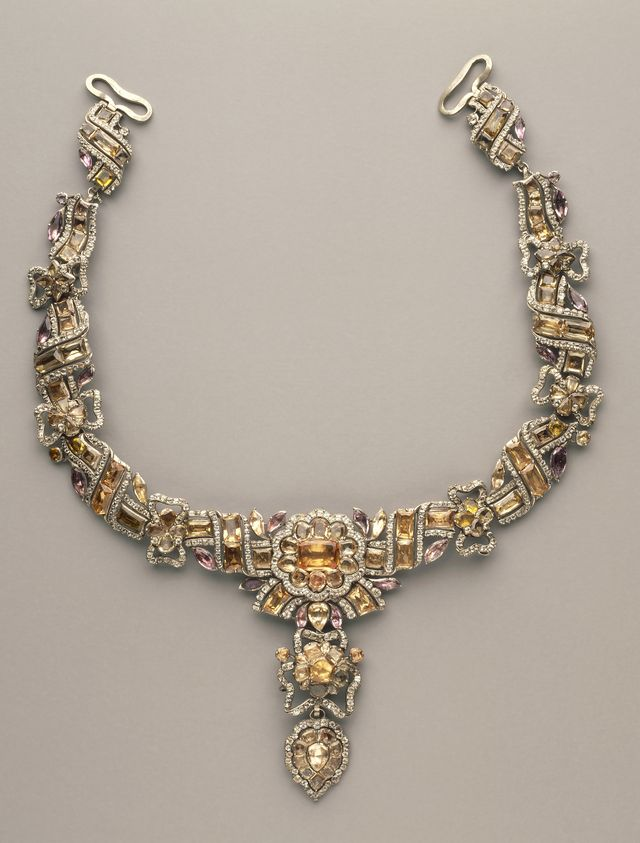 french 18th century topaz necklace