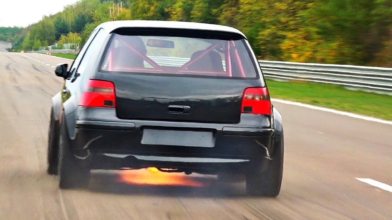 This Fire-Spitting 1150-HP Volkswagen Golf R32 Is Insanity on Wheels
