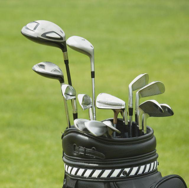 close up of golf bag