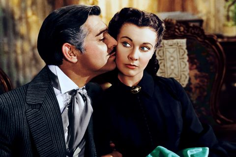 vivian leigh, gone with the wind, red lipstick, movie