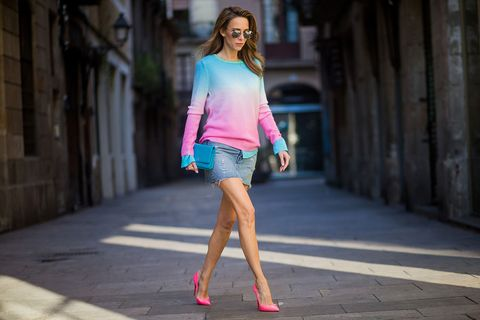 Clothing, Pink, Photograph, Street fashion, Fashion, Fashion model, Beauty, Shoulder, Snapshot, Leg,