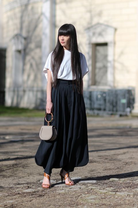 newest collection bb26a 2fcab Quali scarpe con la gonna lunga? 12 abbinamenti streetstyle