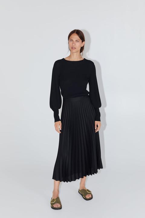 nuove immagini di economico per lo sconto intera collezione Gonna moda 2019: il modello a pieghe Zara perfetto per l'autunno 2019