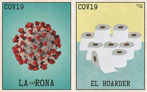 居家隔離激發創意!美國藝術家設計「新冠肺炎」版賓果桌遊,逗趣又療癒