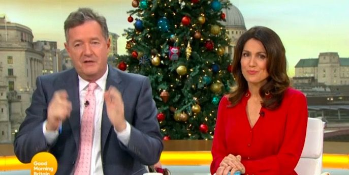 """Good Morning Britain's Piers Morgan says """"cockwomble"""" live on air"""