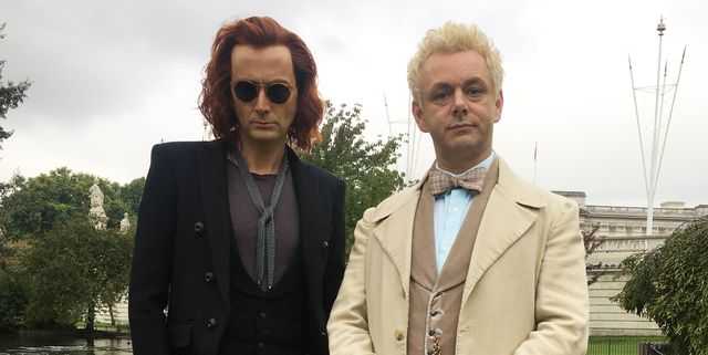 "Good Omens' David Tennant explains why the ""tightness of his trousers"" caused problems on set"