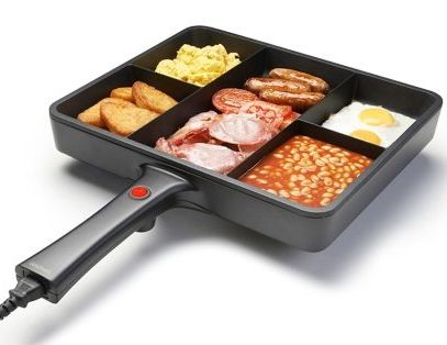 Multi-section frying pans