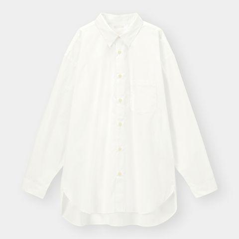 ブロードオーバーサイズシャツ(長袖) ¥1,990