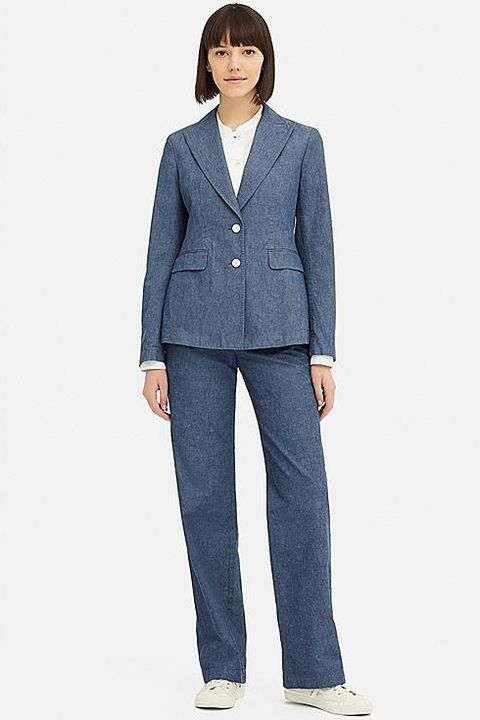 Uniqlo Ines chambray blazer
