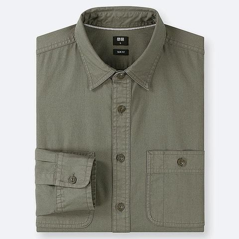 Camisa hombre uniqlo, camisa hombre, camisa verde