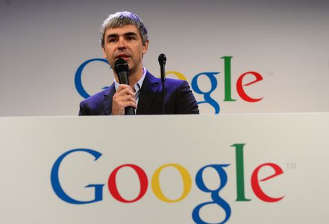 google ceo larry page holds a press anno