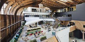 Google nueva oficina en Los Ángeles en un Hangar