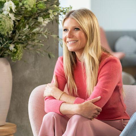 Blond, Sitting, Pink, Interior design, Furniture, Room, Plant, Flowerpot,