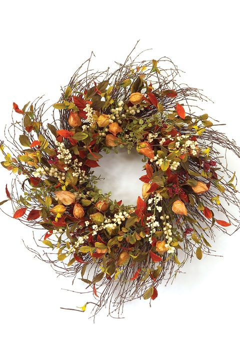 30 Stylish Fall Wreaths Door Decorations With Fall Color Palettes