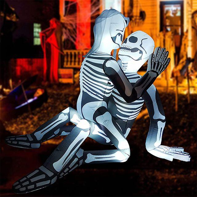 goosh controversial skeleton couple halloween inflatable