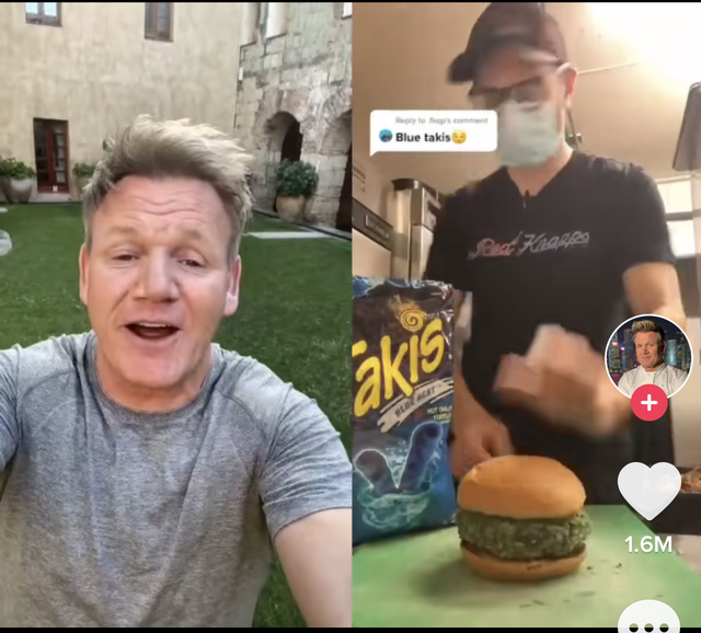gordon ramsay reacted to a chef putting blue takis on and inside a burger