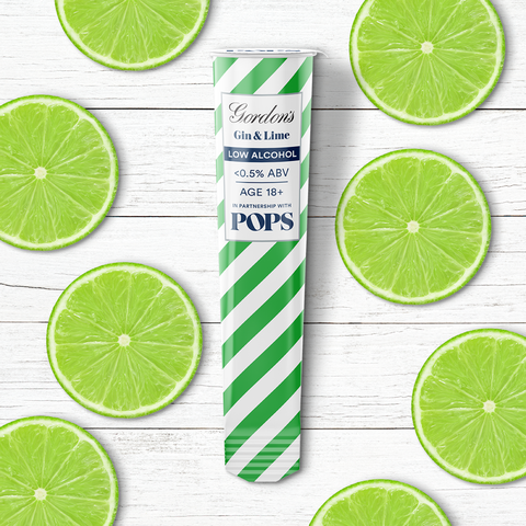Gin and lime popsicles