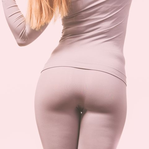 gorgeous lady showing backside