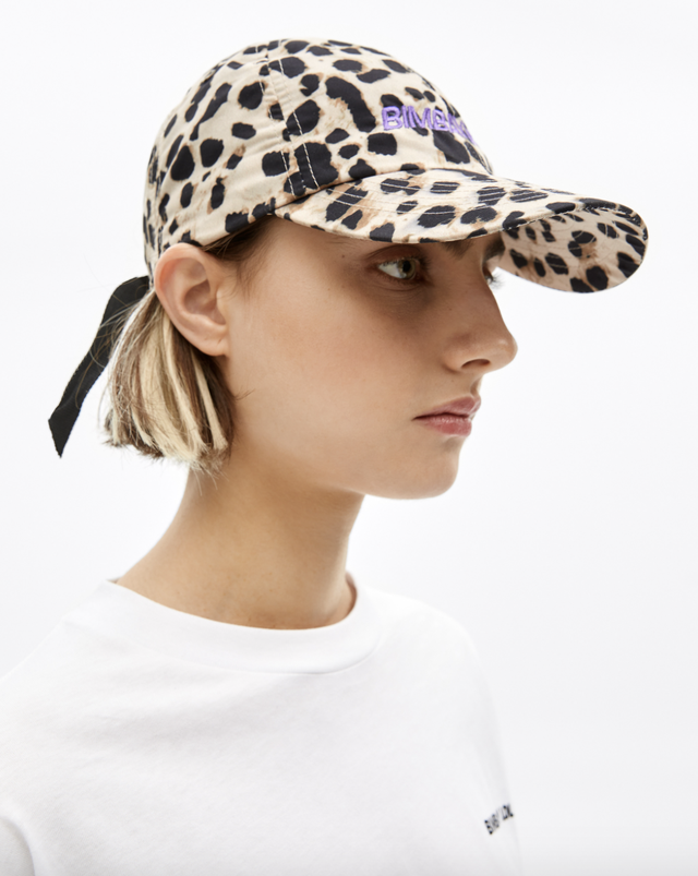 bimba y lola gorra leopardo