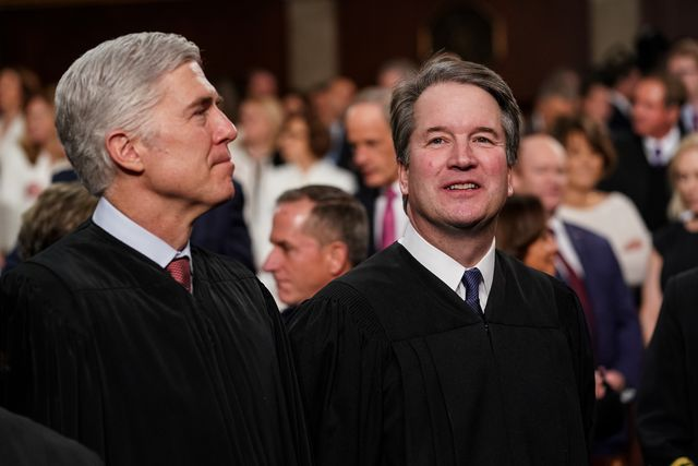 february 5, 2019   washington, dc supreme court  neil gorsuch, left, and brett kavanaugh at the capitol in washington, dc on february 5, 2019 doug millsthe new york times pool photo nytsotu