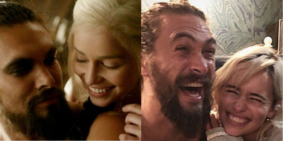 Emilia Clarke and Jason Momoa Reunited on Instagram and No Two People Have Ever Looked Happier
