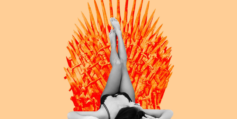 Girl Laying On Throne Fantasy Art