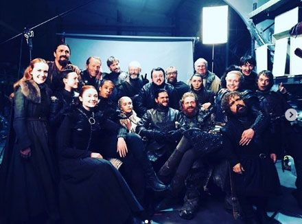 The Game Of Thrones cast has been posting emotional tributes to the show following the finale