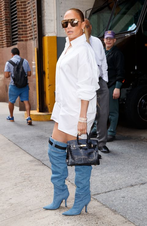 Jennifer Lopez S Versace Boots Are Perfect For Anyone Who Hates Pants