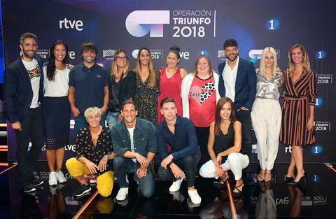 Gotzon Mantuliz con elequipo de profesores de 'Operación Triunfo 2018'