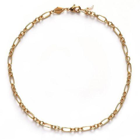 gouden schakel enkelbandje van anni lu via de bijenkorf