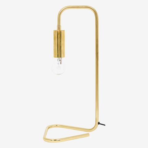 gouden tafellamp van koper van sissy boy