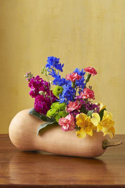 gourd flower arrangement fall decor ideas