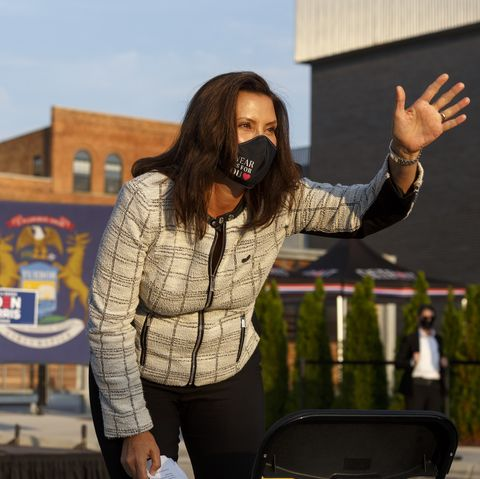 vice presidential nominee kamala harris campaigns in michigan