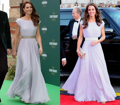kate middleton purple alexander mcqueen dress repeat 2021