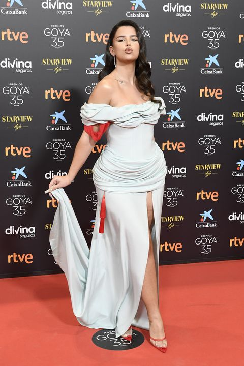 malaga, spain   march 06 nathy peluso attends goya cinema awards 2021 red carpet at gran hotel miramar on march 06, 2021 in malaga, spain photo by carlos alvarezgetty images