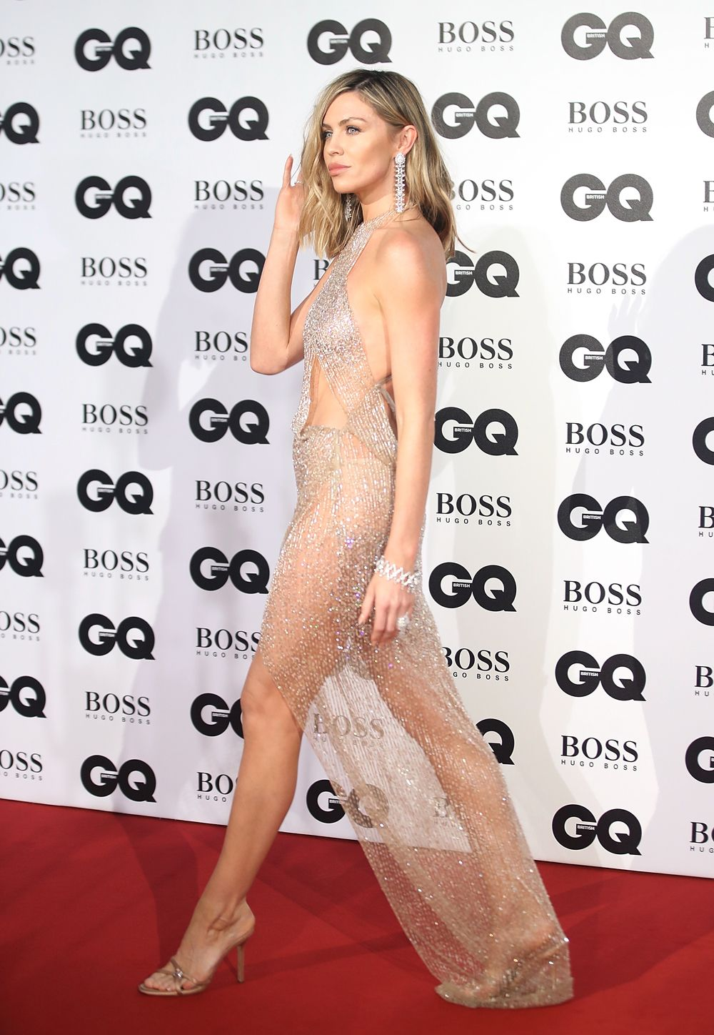 Gq Awards 2018 Naked Celebrity Dresses Abbey Clancy