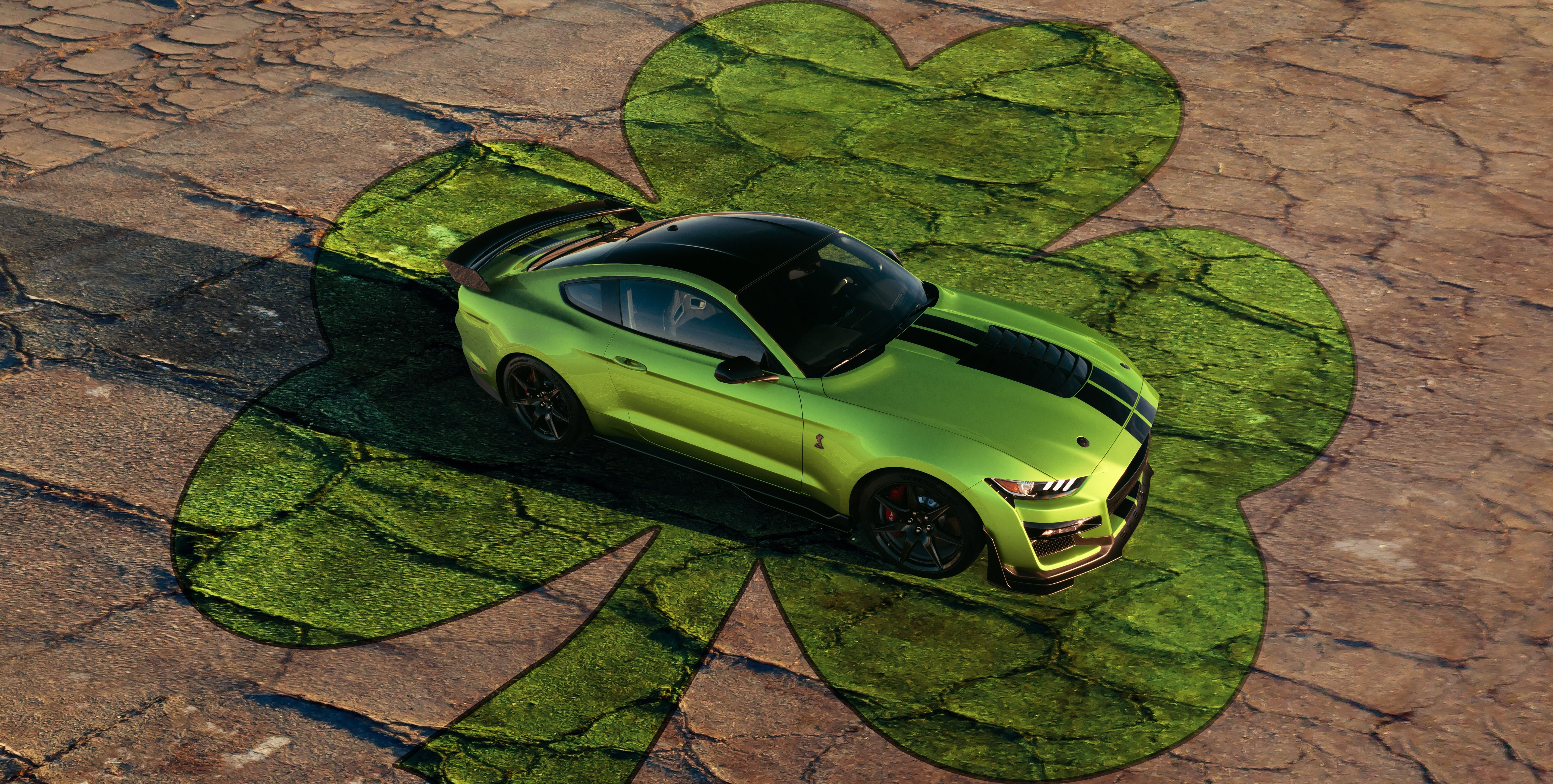 Ford Shelby GT500 in Grabber Lime Has Saint Patrick's Day Spirit and Then Some