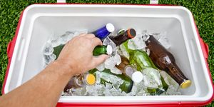 Grabbing Beer from a Cooler