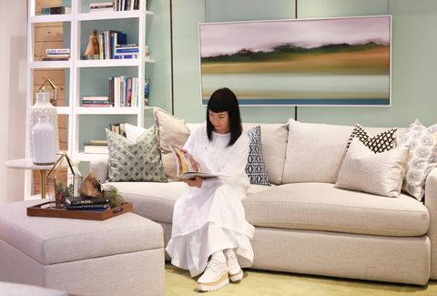 Room, Interior design, Wall, Living room, Furniture, Couch, Home, Interior design, Shelf, Shelving,