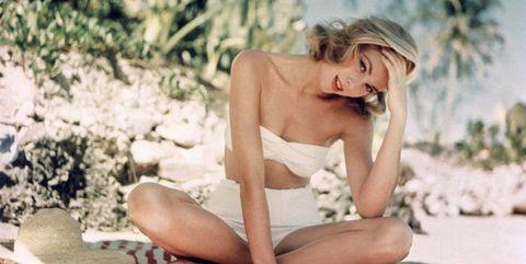 Leg, Sitting, Summer, Blond, Bikini, Model, Vacation, Photography, Swimwear, Photo shoot,