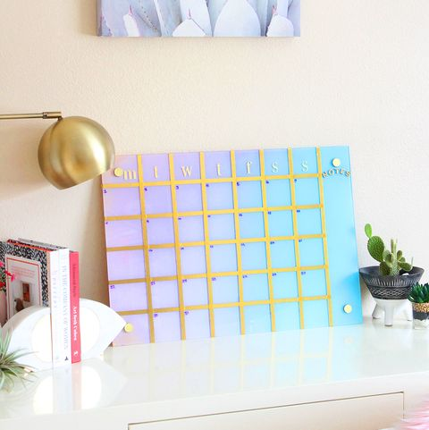 back to school diy gradient calendar