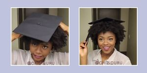 This student just created a genius graduation cap hack for Afro hair