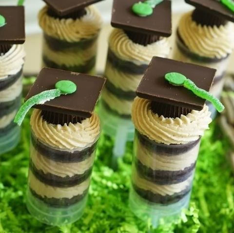 graduation party ideas  peanut butter cup push pop