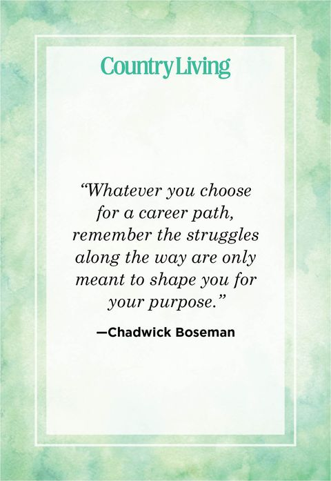 whatever you choose for a career path remember the struggles along the way are only meant to shape you for your purpose