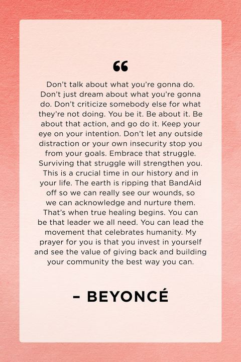 beyonce graduation quote class of 2020