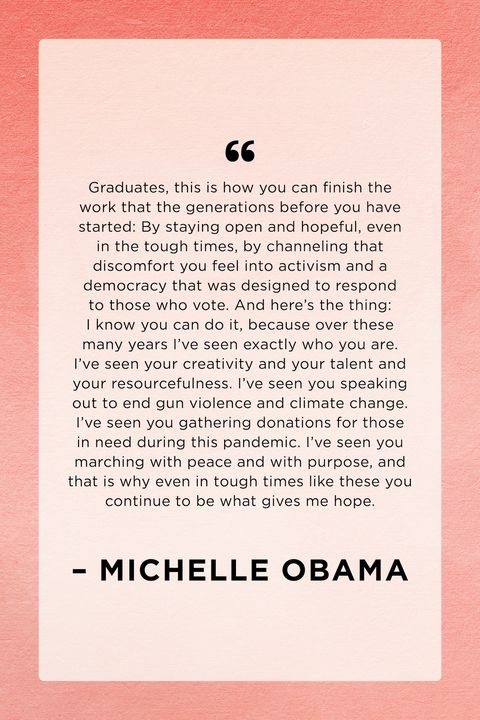 michelle obama graduation quote speech